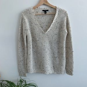 Forever 21 - Soft Knit Sweater - White & Speckles